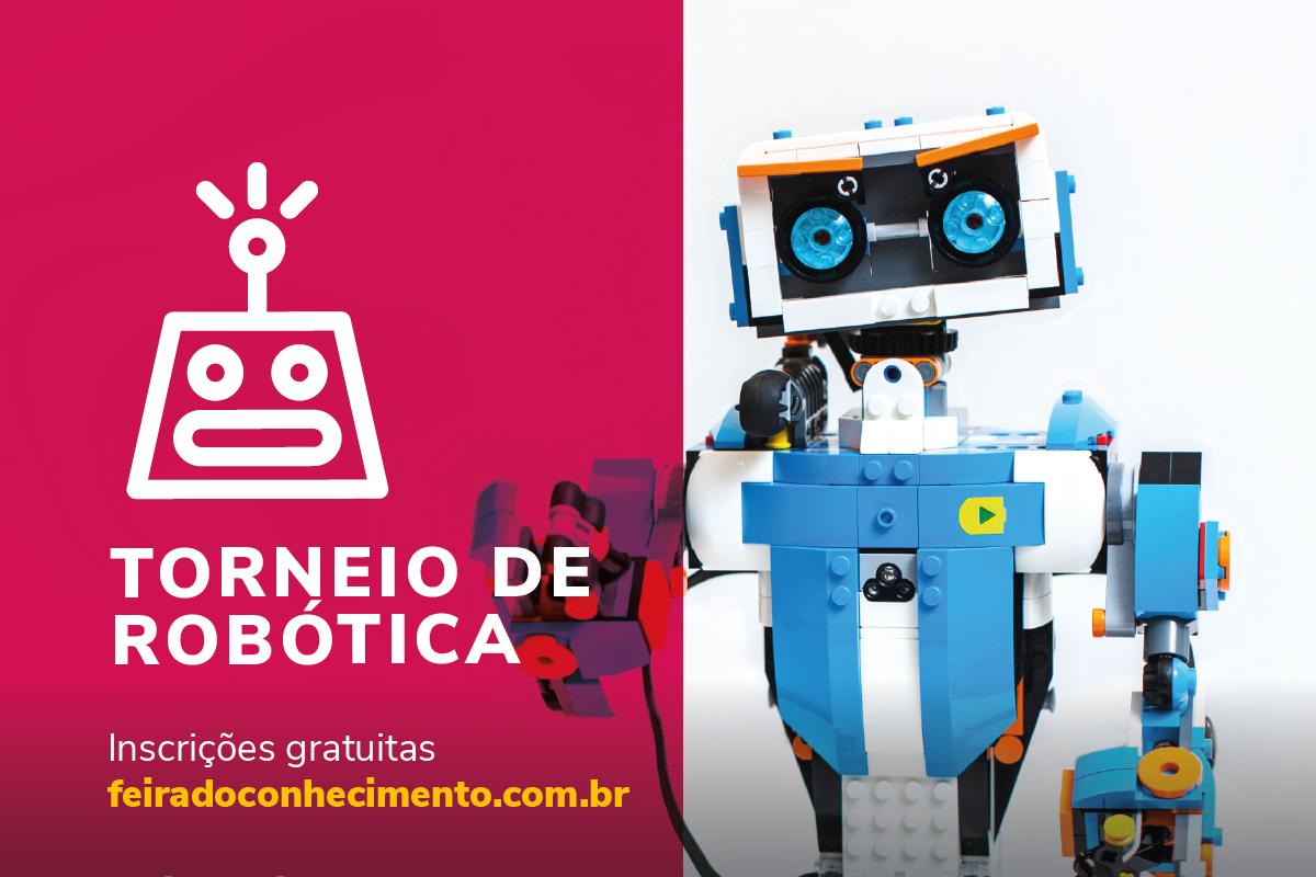 Inscrições abertas para o Torneio de Robótica da Feira do Conhecimento