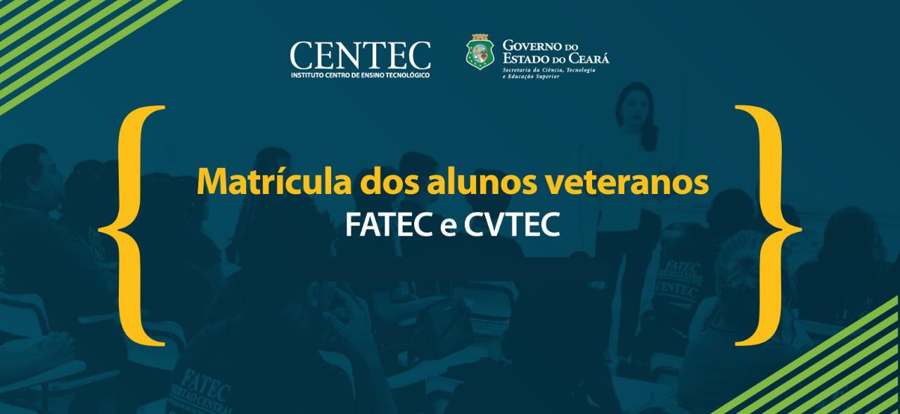 Matrículas de alunos veteranos das Fatecs e CVTECs iniciam na segunda-feira (18)