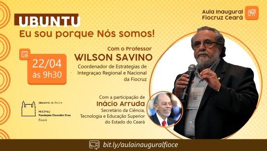 Fiocruz: Aula Inaugural 2021 será retransmitida pelo canal do youtube da Secitece