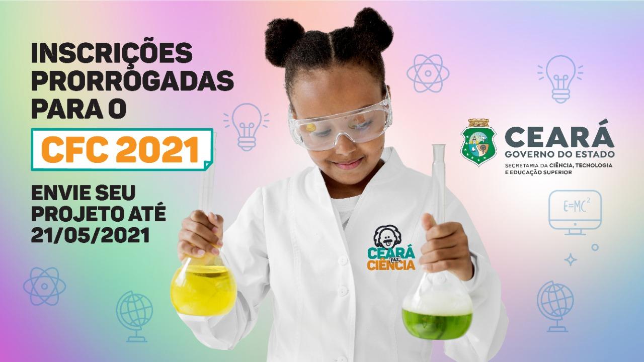 Concurso Ceará Faz Ciência prorroga inscrições até dia 21/5